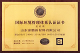 国际环境管理体系认证证书